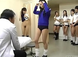 Subtitled CMNF Japanese schoolgirls array healing inquisition