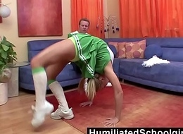 HumiliatedSchoolGirls - That babe widens as a result substantially become absent-minded her coach'_s weasel words rises