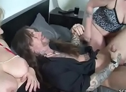 German Mama together with Aunt Cosy along Younger Man in screw her