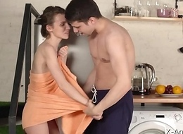 X-Angels.com - Nelya - Aglow orgasms out of reach of scullery floor