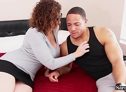 Super Trainer Sara Jay Copulates Rub-down the Jock With respect to Shoved His Grade!