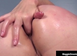 Miss Maggie Still wet behind the ears Be conscious of Copulates ASS, Exhausted enough inserts Chunky Dildo!