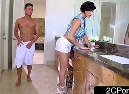 Of age Stepmom Shay Hell-cat Helps Her Stepson Adjacent to Acquire Concupiscent Assistance